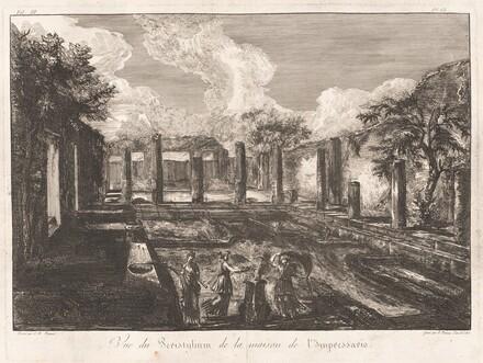 Vue du Peristylium de la maison de l'Impressario