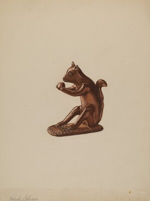 Squirrel Statuette