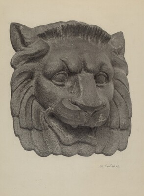 Muzzle of a Lion (one of pair)