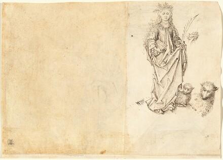 Saint Agnes (verso)