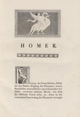 Homer Nach Antiken Gezeichnet