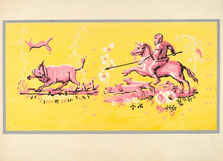 Bandbox Design - Hunting Scene