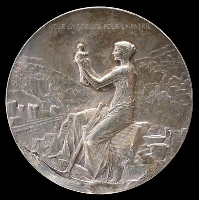 Medal for the Fiftieth Anniversary of the École française d'Athènes [obverse]