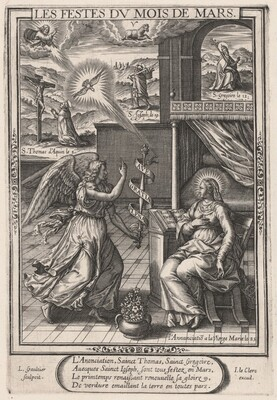 Les Festes du mois de Mars (March: The Annunciation)