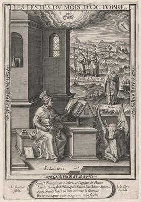 Les Festes du mois de Octobre (October: Saint Luke)
