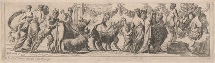 Satyrs Bringing Animals to an Altar