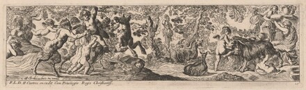 Satyrs and Putti Playing with Animals