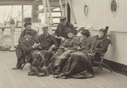 Sime Herrmann, Mr. and Mrs. Mann, Dr. Brown, Mr. McGibbon, Miss Lonthicum and Emmy - On Board the Bourgogne May 5-14, 1896
