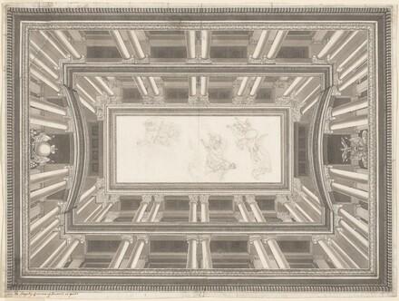 Design for a Trompe-l'oeil Ceiling Decoration