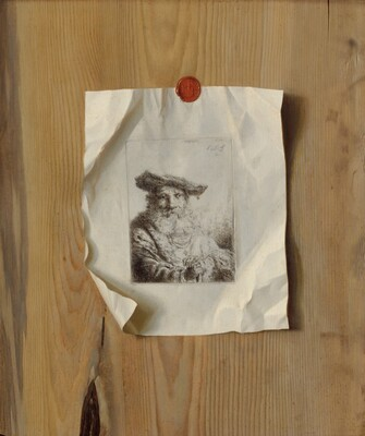 Trompe l'Oeil of an Etching by Ferdinand Bol