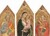 Madonna and Child with the Blessing Christ, and Saints Peter, James Major, Anthony Abbott, and a Deacon Saint [entire triptych]