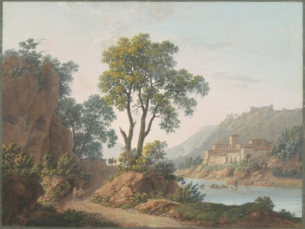 River Landscape with Castles and Travelers