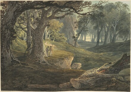 Travellers in a Woodland Glade