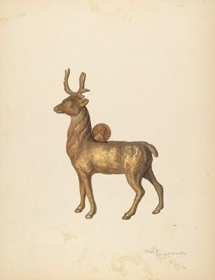 Child's Saving Bank (Deer)