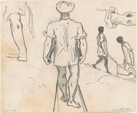 Studies of Peasants with Wheelbarrows [verso]