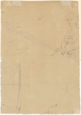 Two Figures and a Rectangular Form [verso]