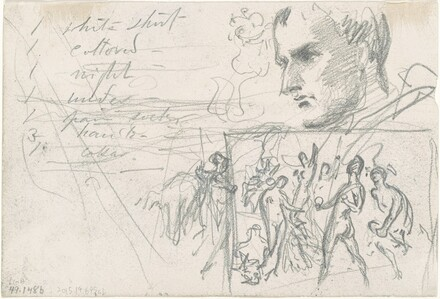 Napoleonic Head and Judgment of Paris [verso]