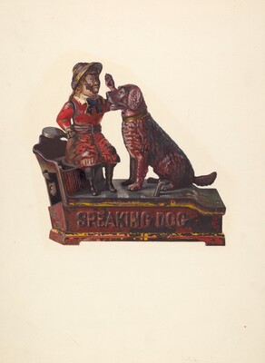 Toy Bank: Speaking Dog and Figure