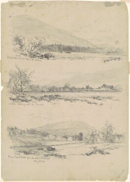 Catskill Mountains, Round-Top in the Distance; Catskills Looking North from Palenville; and Round Top, Catskills, from the Road to Bracketts [verso]