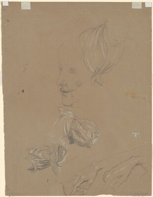 Studies of a Woman and Her Dress [verso]