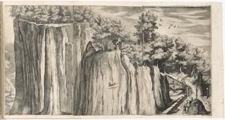 View of the Mountain of La Verna from the Road of Casentino (Vue de la montagne della Vernia...) [plate A]