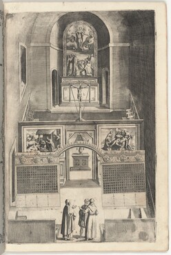 Interior of the Minor Church (Interno della chiesa minore) [plate F]