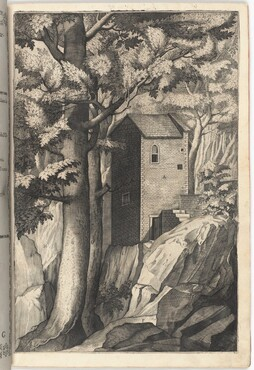 Exterior View of the Chapel of the Cardinal (Veduta esterna della cappella del cardinale) [plate G]