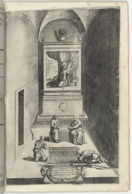 Interior of the Chapel of Mary Magdelene (Interno della cappella della Maddalena) [plate H]