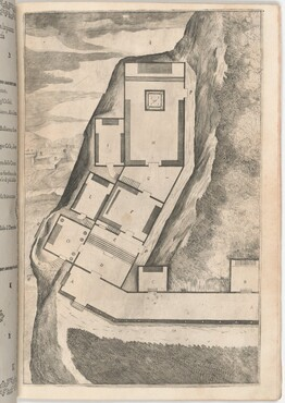 Plan of the Rooms and Church of the Sacred Monastery (Pianta di parte della loggia e del sacro eremo) [plate K]