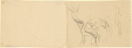 Study for Shoeing Calvary Horses at the Front [verso]