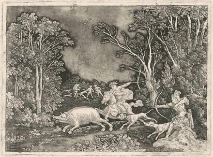 Antique Boar Hunt
