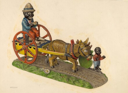 Toy Bank: Donkey and Cart