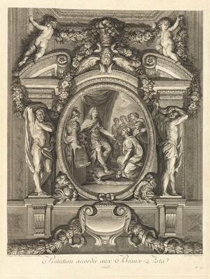 Protection accordée aux beaux-arts 1663 (Protection Granted to the Fine Arts 1663) [pl. 24]