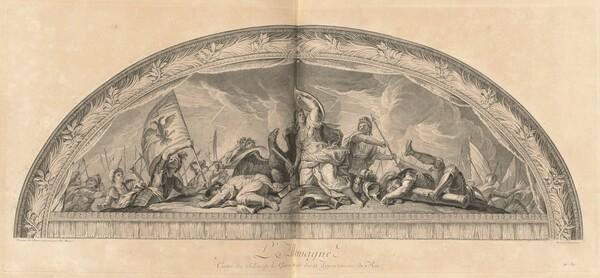 L'Allemagne Cintre du Salon de la Guerre du côté des appartemens du Roi (Germany, Center of the Salon of War next to the King's Chambers) [pl. 37]