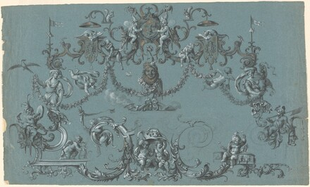 Arabesques with Frolicking Putti, Animals, and Jesters