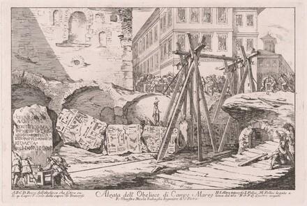 Alzata dell'Obelisco di Campo Marzio (Excavation of the Obelisk from the Campo Marzio)