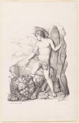L'Amour terrassant un lion (Personification of Love Vanquishing a Lion)