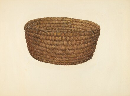 Hickory Bark and Oat Straw Basket