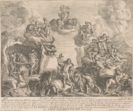 The Prima Macchina for the Chinea of 1738: Allegory of Regal Providence