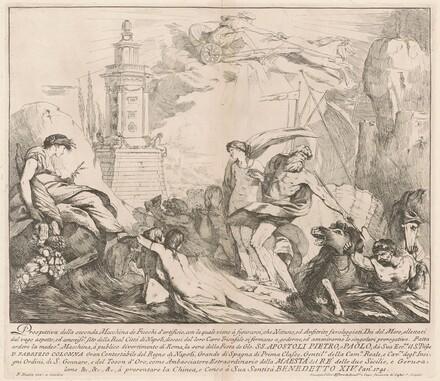 The Seconda Macchina for the Chinea of 1741: Neptune and Amphitrite