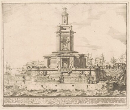 The Prima Macchina for the Chinea of 1750: The New Pier of Naples