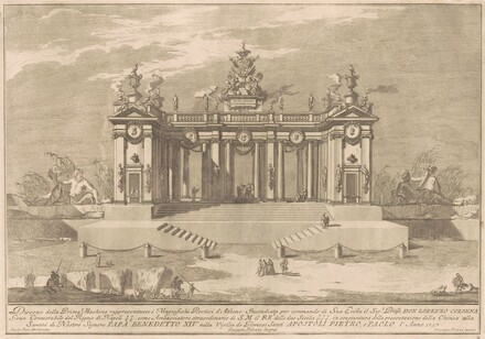 The Prima Macchina for the Chinea of 1757: The Colonnade of the Athenian Lyceum