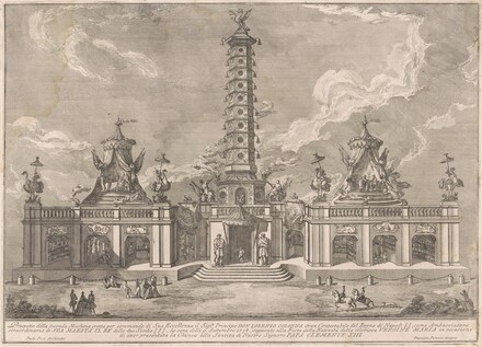 The Seconda Macchina for the Chinea of 1758: The Porcelain Tower of Nanjing