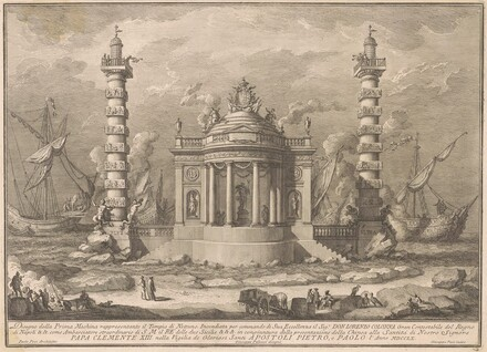 The Prima Macchina for the Chinea of 1760: The Temple of Neptune