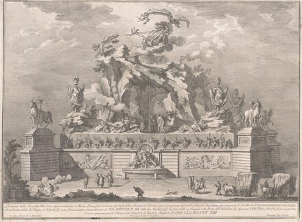 The Seconda Macchina for the Chinea of 1767: Mount Etna with the Forge of Vulcan