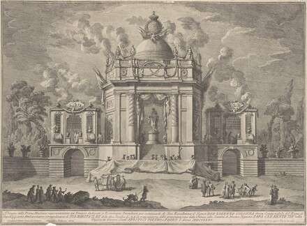 The Prima Macchina for the Chinea of 1771: The Temple of Asclepius