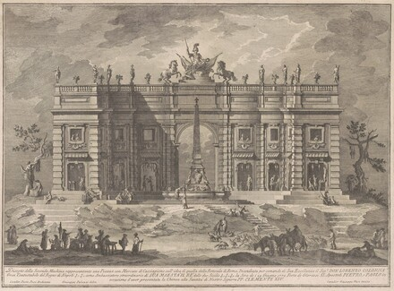 The Seconda Macchina for the Chinea of 1772: A Square with a Game Market and the Pantheon Fountain