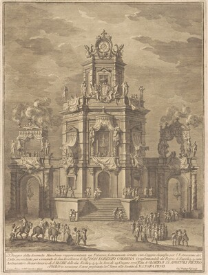 The Seconda Macchina for the Chinea of 1776: A Palace with a Loggia for the Lottery Draw