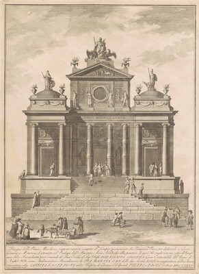 The Prima Macchina for the Chinea of 1785: The Temple of Jupiter Begun by Tarquinius Priscus with the Marvel of Accius Naevius