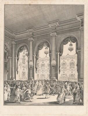 Le bal masqué - Fête donnée à l'occasion de la naissance de Monseigneur le Dauphin, 23 janvier 1782
